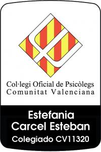 Psicóloga colegiada Estefanía Cárcel CV11320