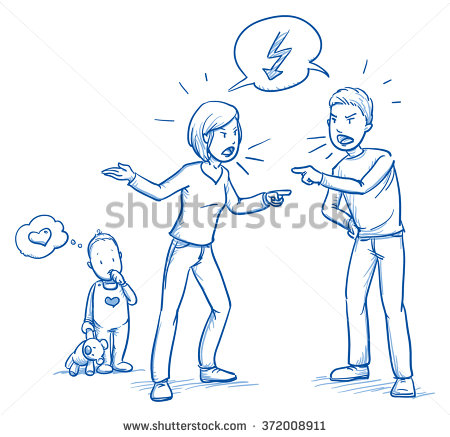 stock-vector-cute-little-baby-toddler-loving-his-parents-while-they-quarrel-hand-drawn-cartoon-doodle-vector-372008911