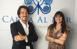 El psicólogo Fernando Pena y la psicóloga Estefanía Cárcel