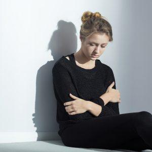 Chica que padece bulimia nerviosa