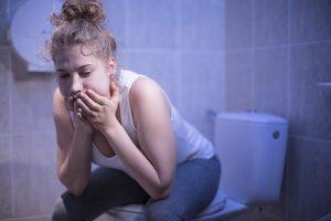 Chica con bulimia nerviosa