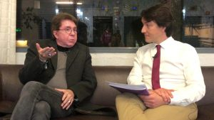 El psicólogo Juan José Moles en un momento de la entrevista con el psicólogo Fernando Pena