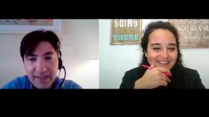 El Psicólogo Joaquín Juliá con la psicóloga Andrea Mezquida en un momento de la entrevista.