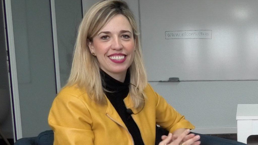 La psicóloga Sara Hernández en un momento de la entrevista